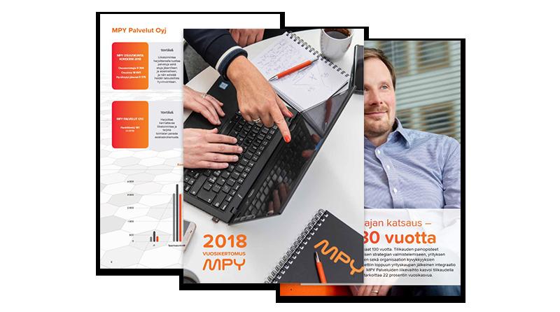 MPY:n vuosikertomus 2018 - kuvakaappaukset